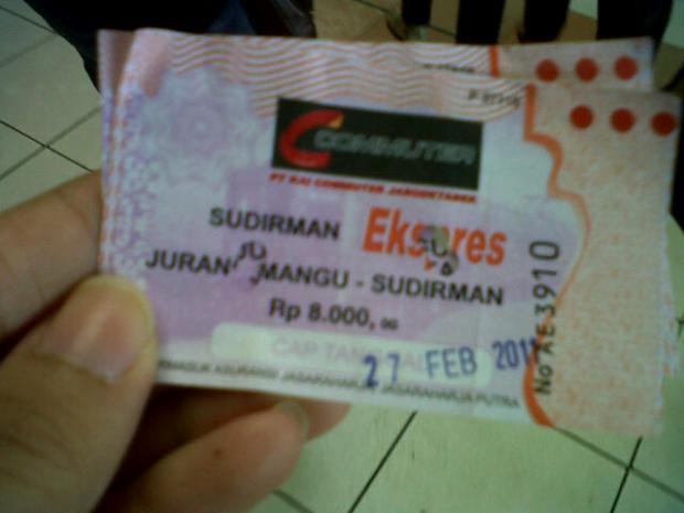 my first Sudirman Express ticket :D